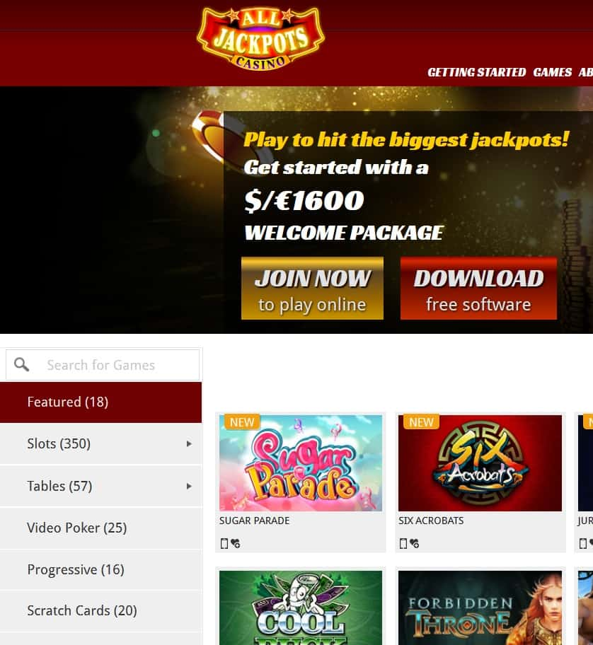 Free all jackpots casino accorn casino