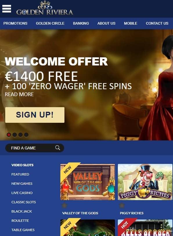 Golden Riviera Online Casino Free Spins Bonus Review