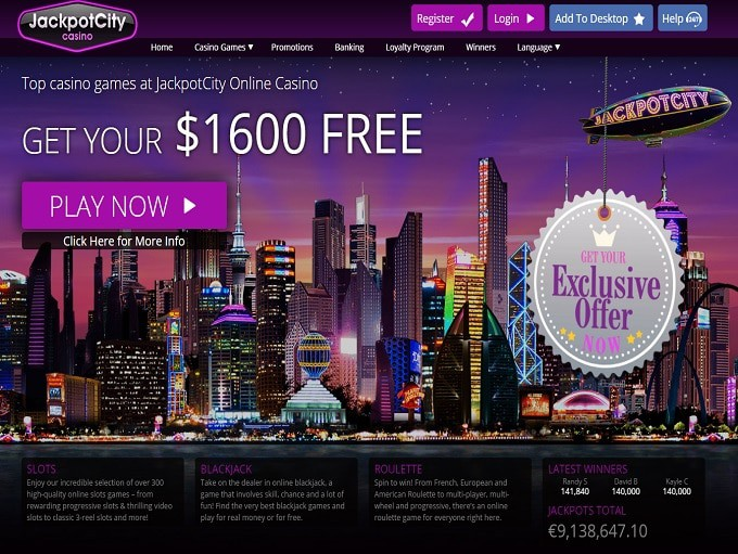 Jackpot City Casino free games online