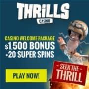 Thrills Casino free bonus