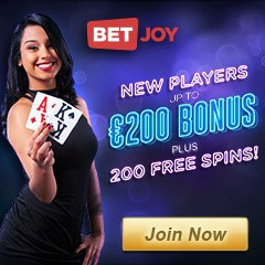 BetJoy Casino - 25 free spins on jackpot slots - no deposit bonus