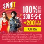 SpinIt Casino £1,000 welcome offer and 200 free spins bonus