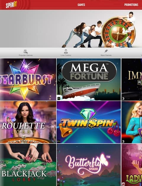 SpinIt Casino free play games