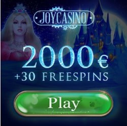 Joy Casino 200 free spins and $2000 welcome bonus