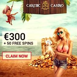 Caribic Casino 125 gratis spins + €300 free chips + no deposit bonus