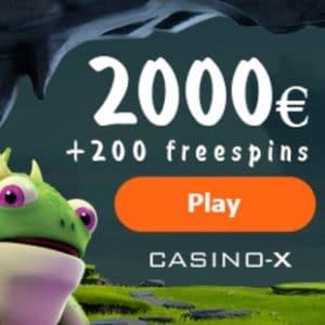 Casino X   425% bonus up to €2000 plus 200 gratis free spins
