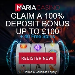 Maria Casino Review: 40 Free Spins   100% Bonus   Gratis Spins