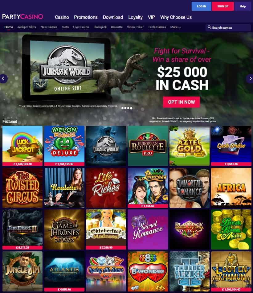 Party Casino 20 free spins on Melon Madness Deluxe - exclusive no deposit bonus!