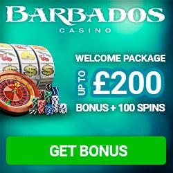 Barbados Casino 100 free spins   100% free bonus   $200 free chips