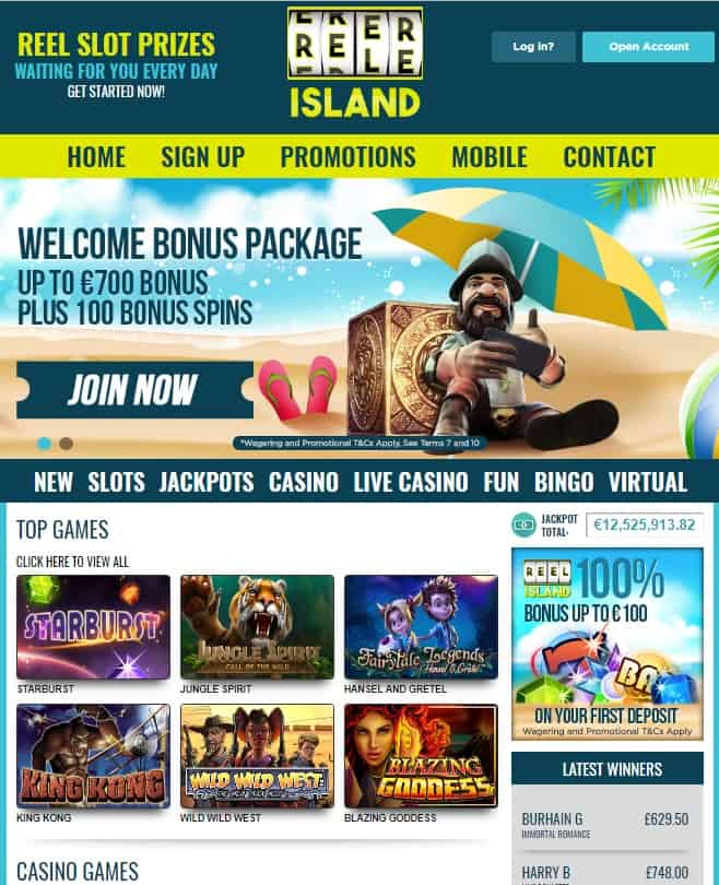 Reel Island Casino - online slots, jackots, table games, live dealer