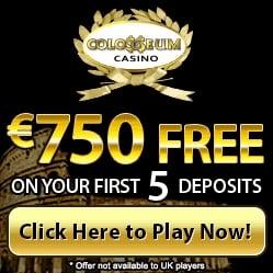 Colosseum Casino | €£$ 750 free bonus and no deposit free spins