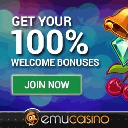 EmuCasino.com 100 free spins and $300 bonus for new players!