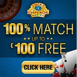 Lucky Emperor Casino | 100% up to £€$ 100 bonus and 100 free spins