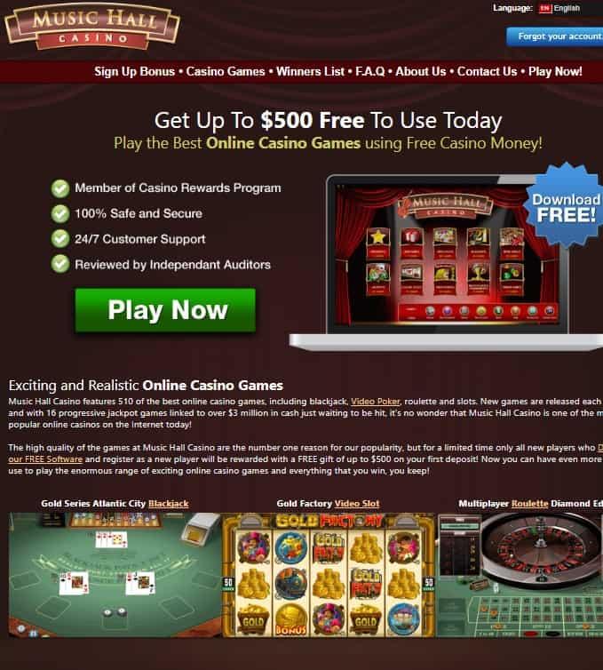 Music Hall Casino Review