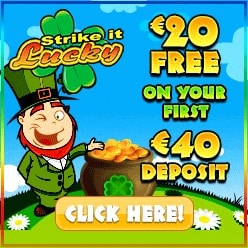 Strike It Lucky Casino | £€$ 20 free chip bonus and 100 free spins