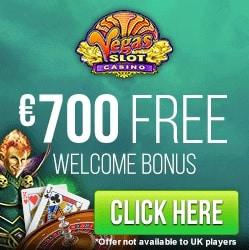 Vegas Slot Casino   £€$ 210 welcome bonus and FREE SPINS!