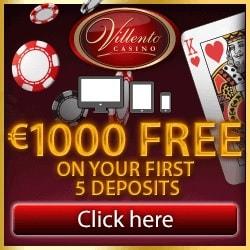 Villento Casino   100 free spins on Thunderstruck + £€$ 1000 free bonus