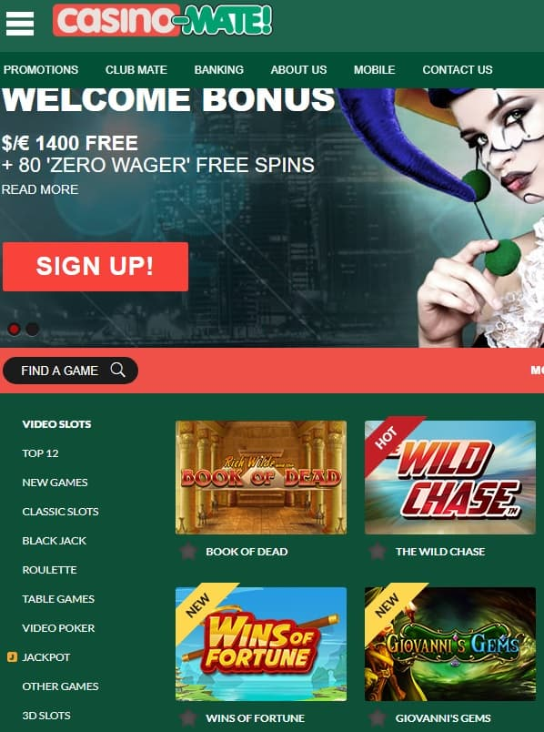 Casino Mate Pokies - free bonus and free spins