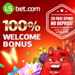 LSbet Casino & Sports | 20 extra free spins   100% up to €300 bonus