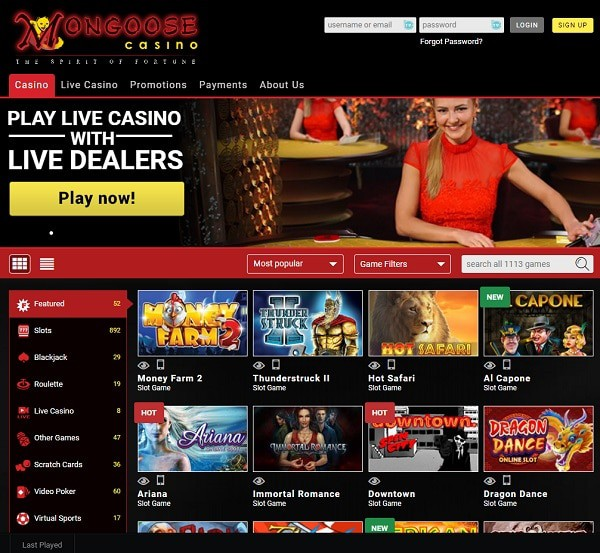 MongooseCasino.com Review