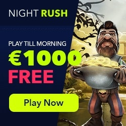 NightRush Casino 20 free spins (NDB) + $1000 free bonus on 2 deposits