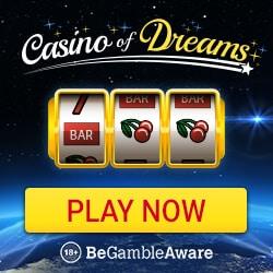 Casino of Dreams 50 free spins on Immortal Romance + £1000 free bonus