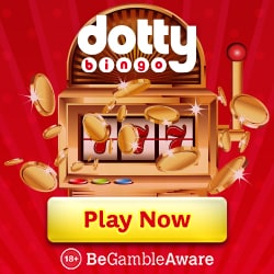 Dotty Bingo Casino 50 free spins and 300% up to £300 exclusive bonus