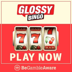 Glossy Bingo Casino - 50 free spins and 300% up to £300 free bonus