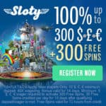 Sloty Casino 200% up to €1,500 welcome bonus   300 gratis free spins