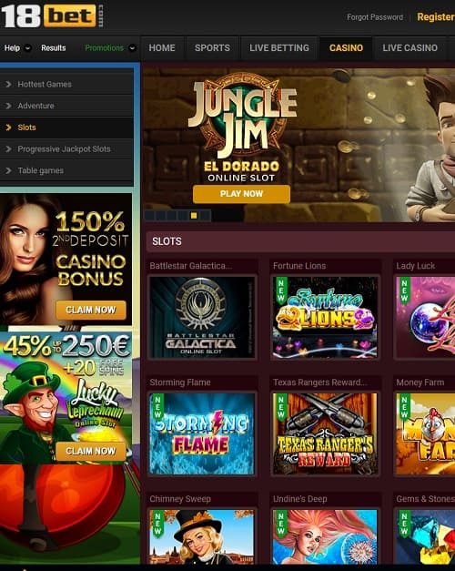 18bet casino online