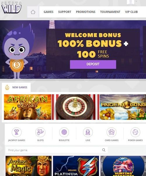 Crypto Wild Casino free spins