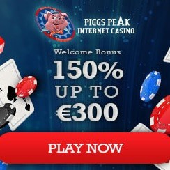 Piggs Peak Casino 50 free spins and €300 welcome bonus
