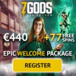 7 Gods Casino – free bonus on progressive jackpot slots and live games!