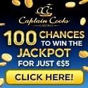 Captain Cooks Casino 150 free spins bonus