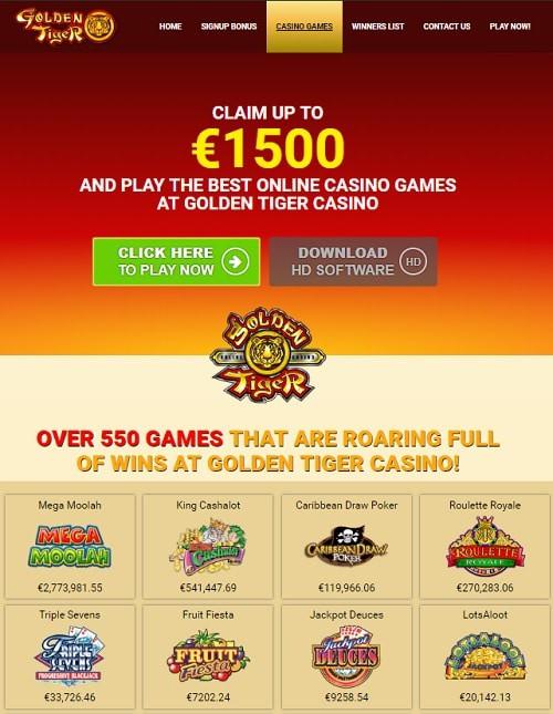 Golden Tiger Casino Free Play