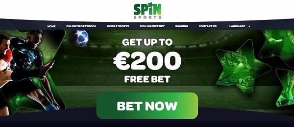 Spin Sportsbook $200 free bet on deposit