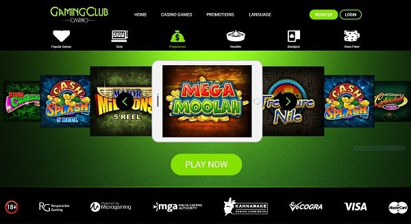 Gaming Club Casino review and rating