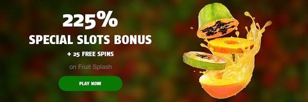 225% welcome bonus