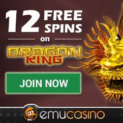 EmuCasino.com 12 free spins bonus no deposit required