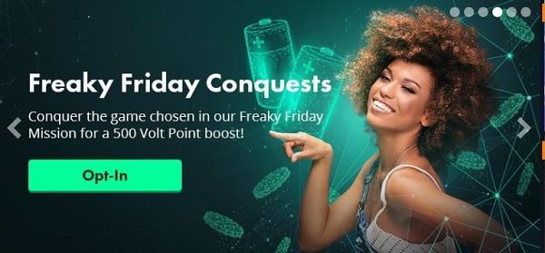 Friday Bonus in VoltCasino