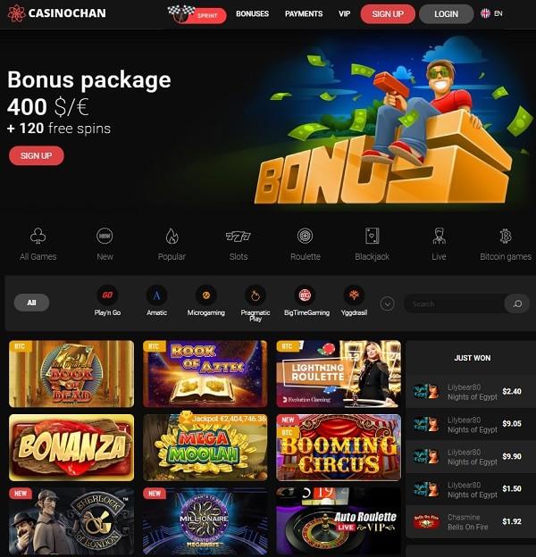 Screen Review of Casino Chan