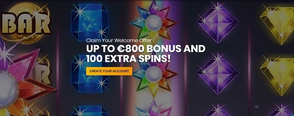 Casiplay 800 EUR free bonus and 100 free spins (welcome offer)