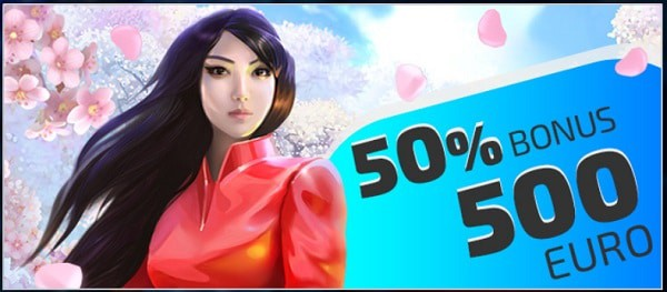 50% bonus up to 500 EUR