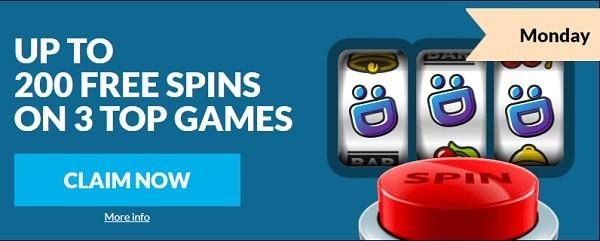 200 free spins wild jackpots casino