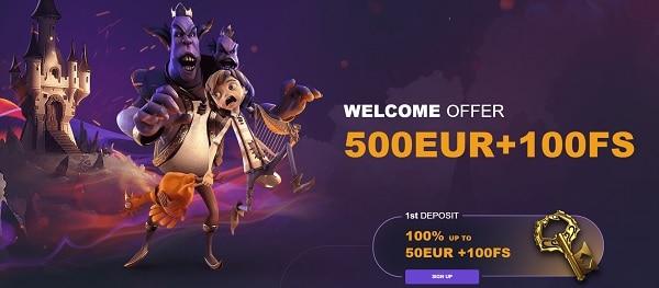 Play 100 free spins bonus!
