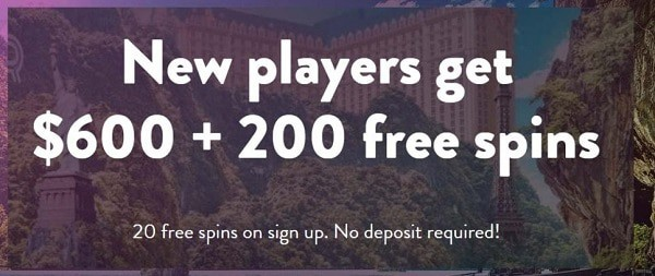 Get 20 free spins after registration, no deposit needed!