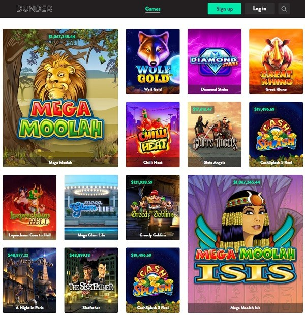 Full Review of Dunder Casino Online