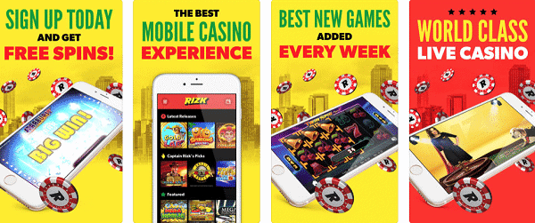 Rizk Free Spins, Mobile Games, Slots and Live Dealer