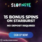 Slotnite Casino 15 gratis spins + €1000 bonus + 200 free spins