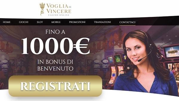 VogliadiVincere 1000 eur bonus